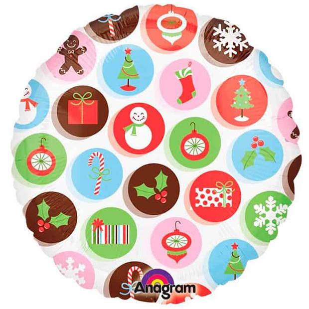 Folieballon kerst iconen 45cm