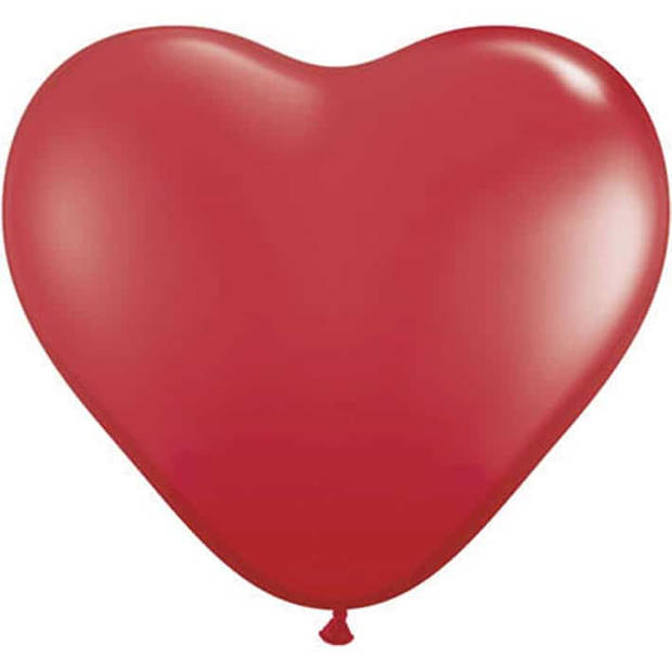Ballonhart rood 95 cm 1 stuks