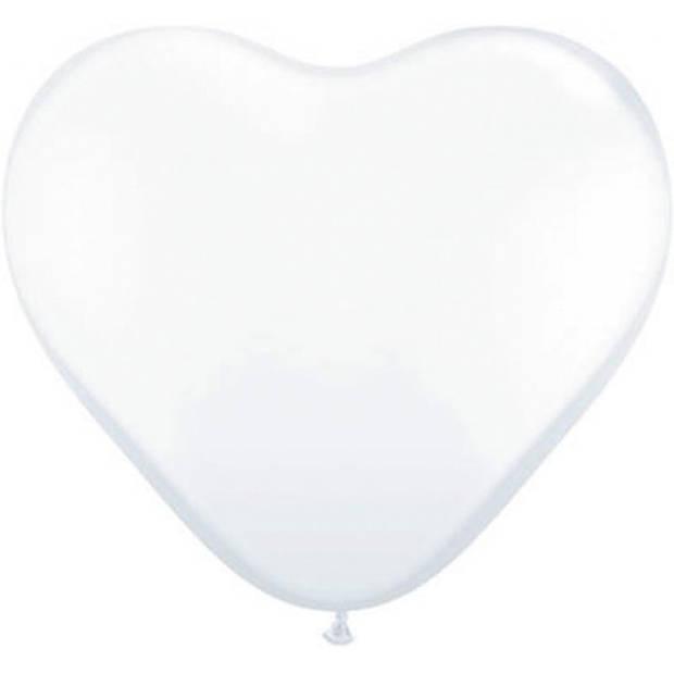 Ballonhart wit 95 cm 1 stuks