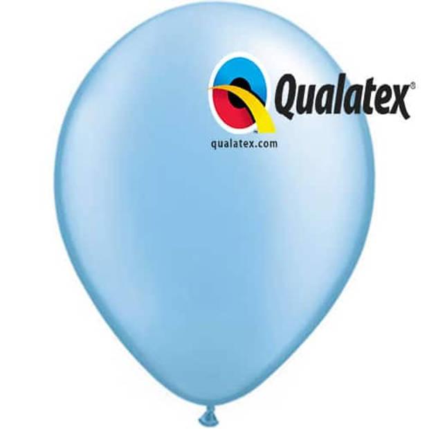 Ballonnen metallic azure 15 cm 100 stuks