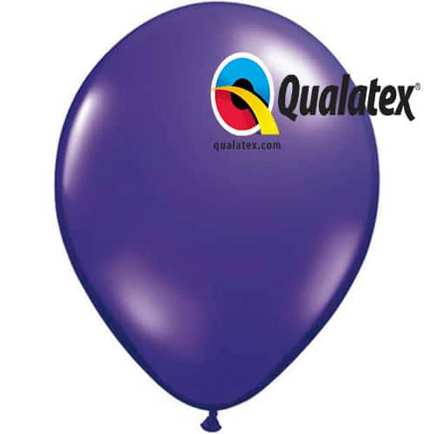 Ballonnen metallic paars 15 cm 100 stuks
