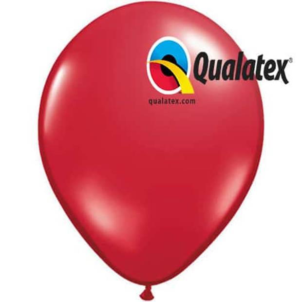 Ballonnen metallic robijn rood 15 cm 100 stuks