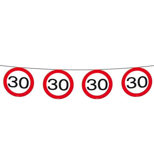 Vlaggenlijn verkeersbord 30