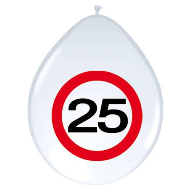 Ballonnen verkeersbord 25