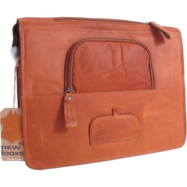 New Looxs pakaf-/schoudertas Barolo 13 liter leer cognac