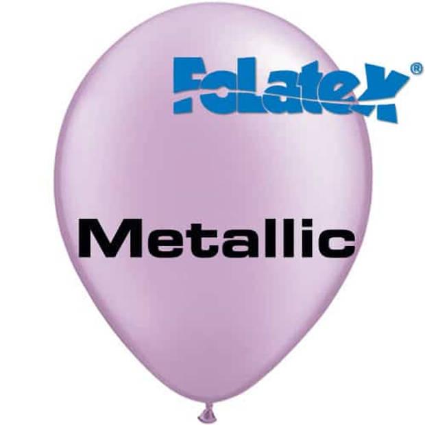 Ballonnen metallic lavendel 30 cm 25 stuks