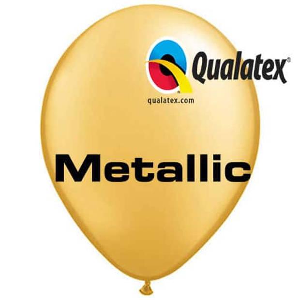 Ballonnen metallic goud 30 cm 100 stuks