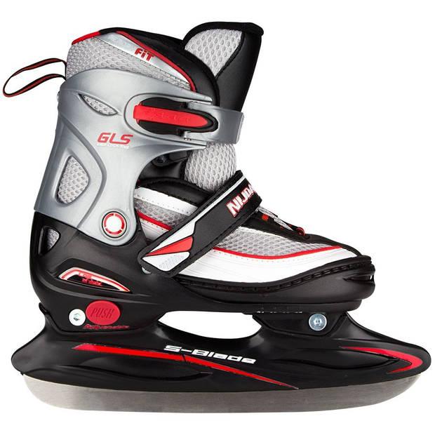 Nijdam ijshockeyschaatsen junior verstelbaar zw