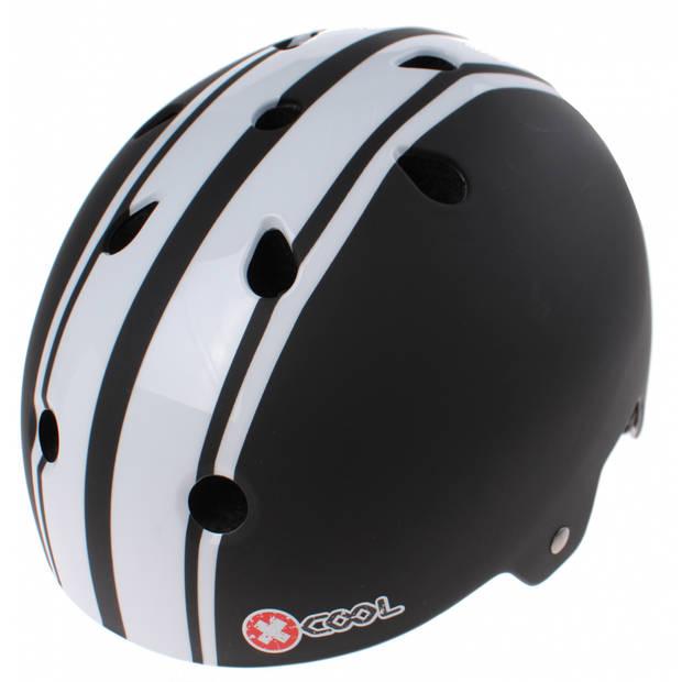 Cycle Tech fietshelm Xcool 2.0 zwart/wit maat 55/58 cm