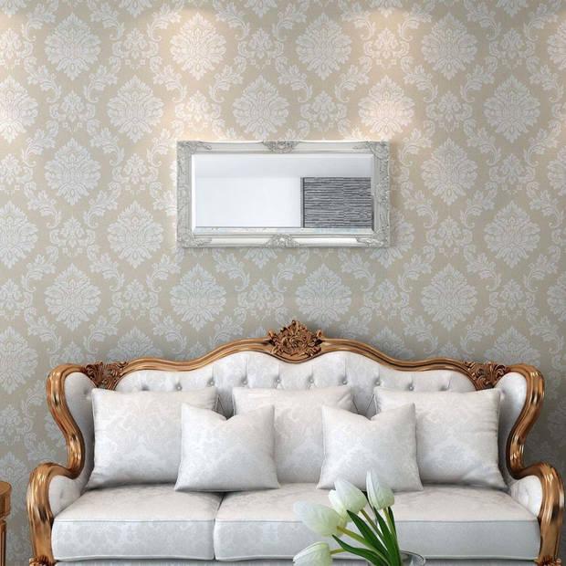 vidaXL Wandspiegel Barok 100 x 50 cm zilver