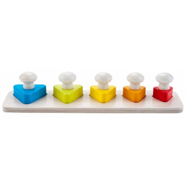 Engelhart leerspel kleuren en driehoekige vormen 29 cm