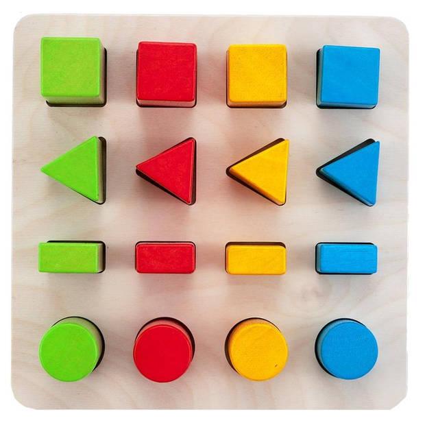 Engelhart leerspel geometrisch vormen 21 cm