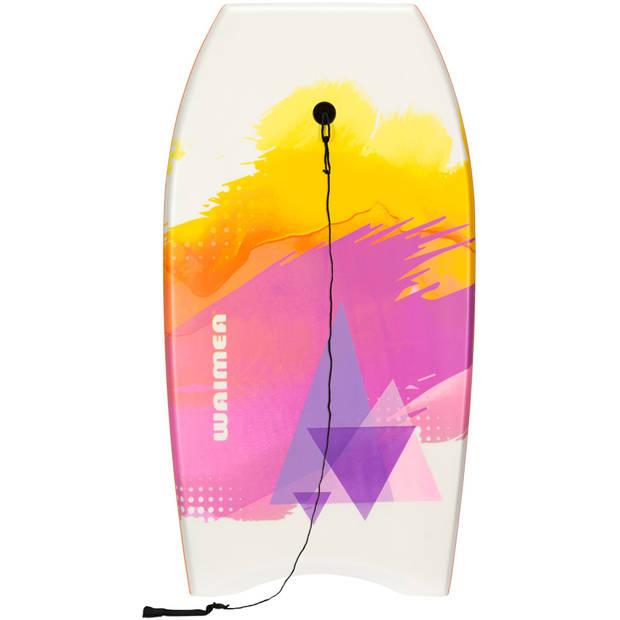 Waimea Bodyboard EPS Slick wit/oranje 93 x 48 cm