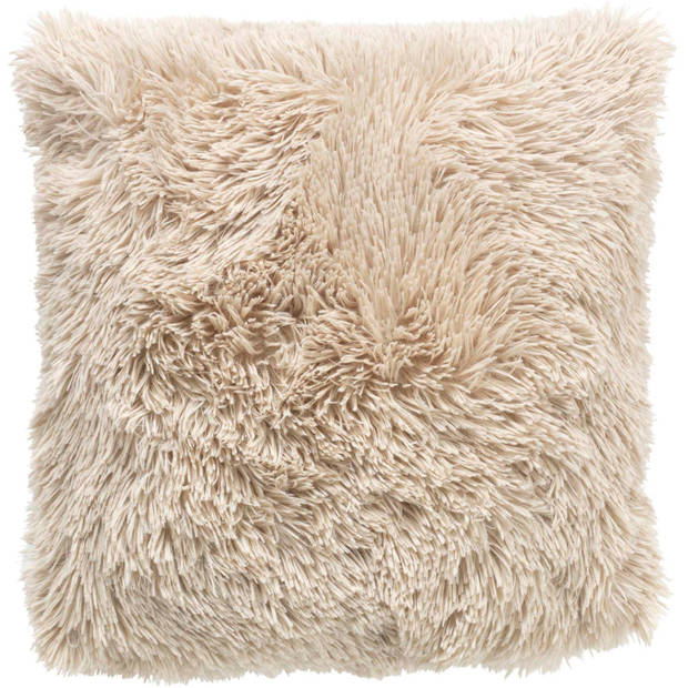 Dutch Decor Kussenhoes Fluffy 45x45 cm zand