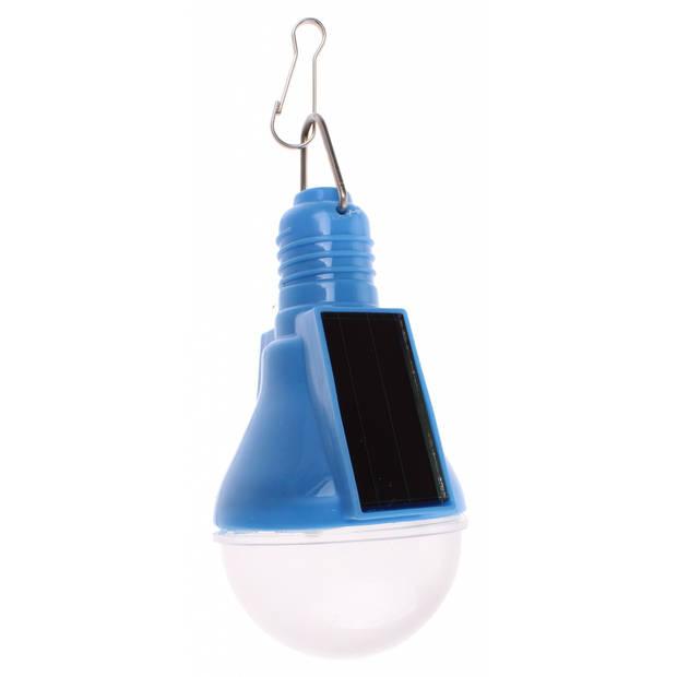 VDM Solarlamp zonne-energie blauw 4 stuks