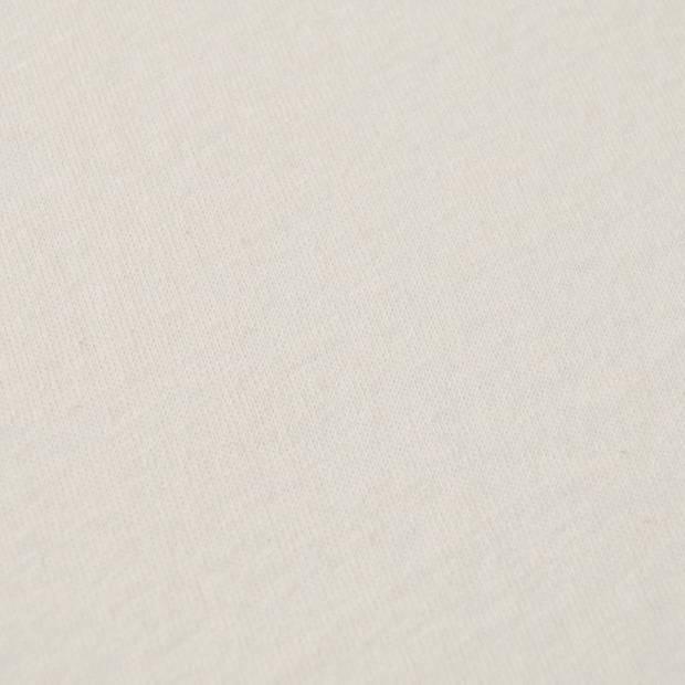 Snoozing - Flanel - Split-hoeslaken - Lits-jumeaux - 200x210/220 cm - Ivoor