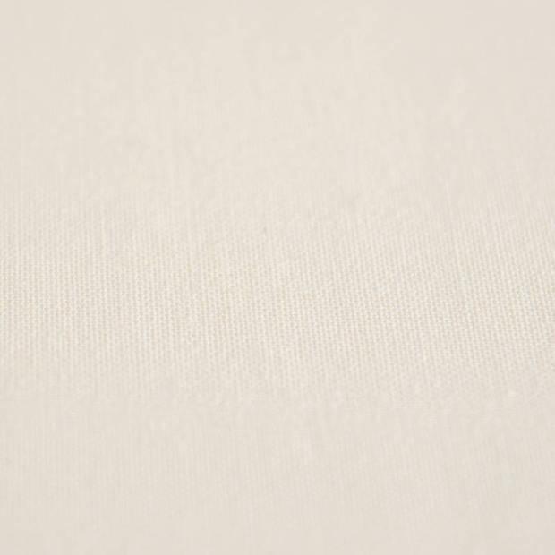 Snoozing - Katoen - Split-hoeslaken - Lits-jumeaux - 160x210/220 cm - Ivoor