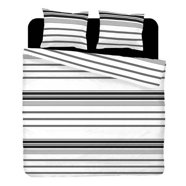 Snoozing Babet dekbedovertrek - 100% katoen - 1-persoons (140x200/220 cm + 1 sloop) - 1 stuk (65x65 cm) - Grijs