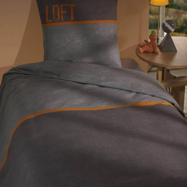 Snoozing Debby dekbedovertrek - Lits-jumeaux (240x200/220 cm + 2 slopen) - Katoen - Grijs