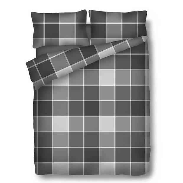 Snoozing Dagmar dekbedovertrek - 100% katoen - 1-persoons (140x200/220 cm + 1 sloop) - 1 stuk (65x65 cm) - Grijs