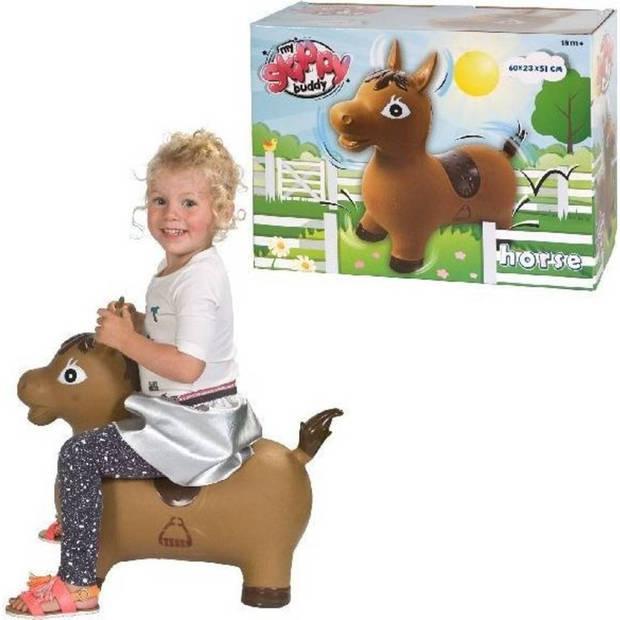 Summertime buddy skippypaard bruin rubber 60 x 23 x 51 cm