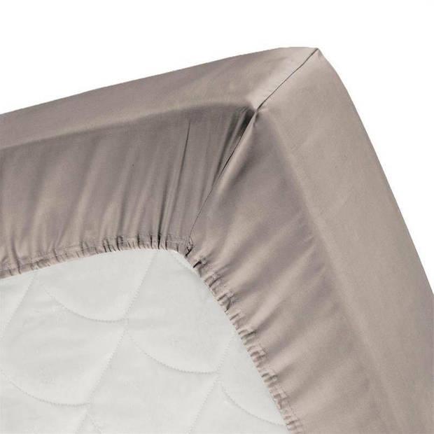 Cinderella flanel hoeslaken - 100% geruwde flanel-katoen - 1-persoons (90x200/210 cm) - Taupe