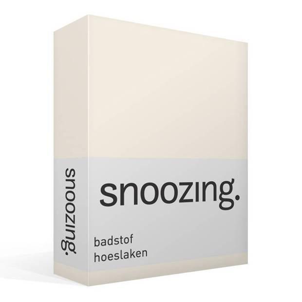 Snoozing badstof hoeslaken - 80% katoen - 20% polyester - Lits-jumeaux (180x200/220 of 200x200 cm) - Ivoor