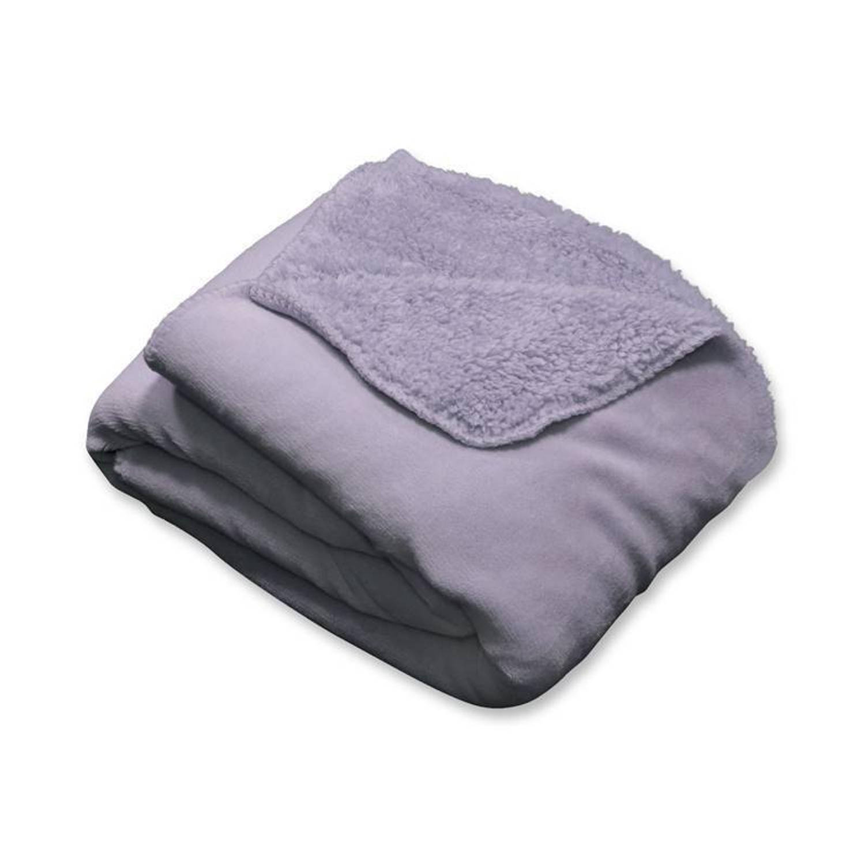 Unique Living Tavi fleece plaid - 100% polyester, Fleece polyester - 130x160 cm - Paars, Lavender