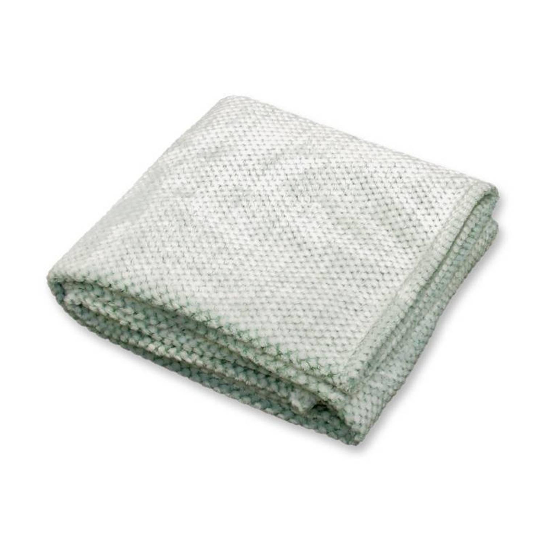 Unique Living Morris fleece plaid - 100% polyester, Fleece polyester - 130x160 cm - Groen, Harbor green
