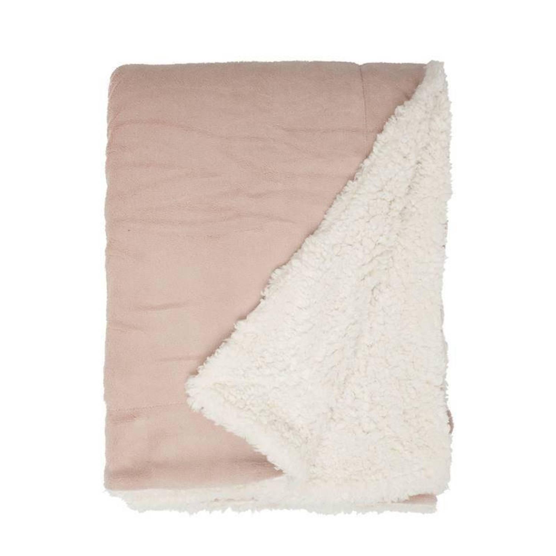 Unique Living Lars fleece plaid - 100% polyester, Fleece polyester - 150x200 cm - Roze