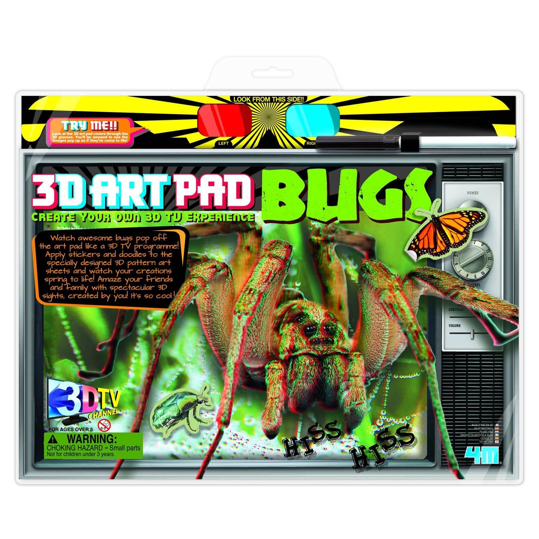 Afbeelding van 4m crea 3d art pad: insecten