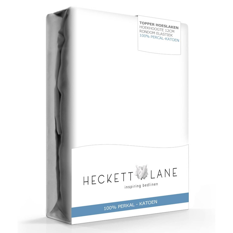 Heckett Lane Hoeslaken Topper Percal White-180 x 200 cm