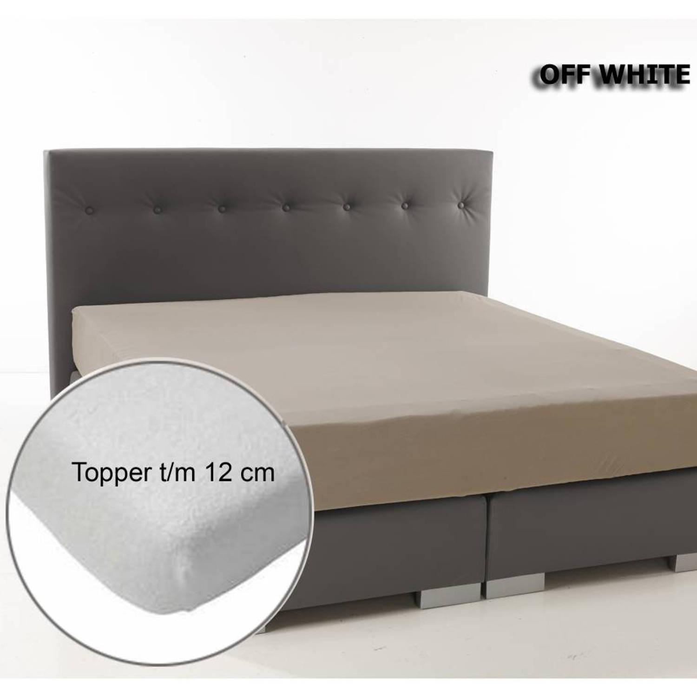 Afbeelding van Topper Hoeslaken Dubbel Geweven Off-White Ambianzz-80/90/100 x 200/220 cm