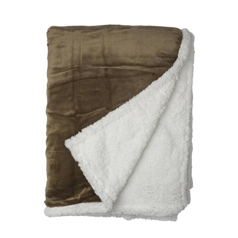 Snoozing Uni fleece plaid - 100% polyester, Fleece polyester - 150x200 cm - Groen