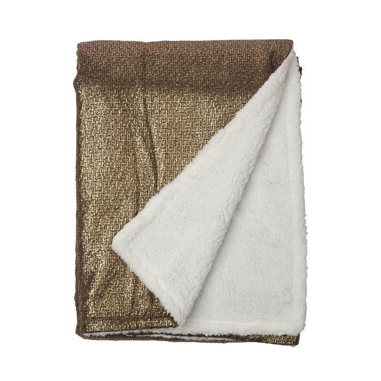 Snoozing Sean fleece plaid - 100% polyester, Fleece polyester - 150x200 cm - Goud