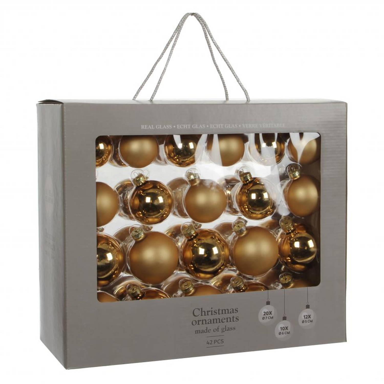 House of seasons ornament kerstbal goud 42 stuks