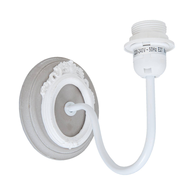 Clayre & eef wandlamp 13x22x18 cm - grijs, wit - ijzer, mdf