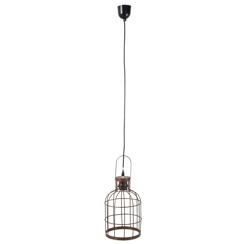 Clayre & eef hanglamp ø 19x43 cm / e27/max. 1x60watt - bruin, zwart - ijzer