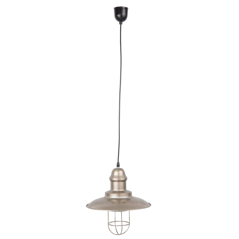 Clayre & eef hanglamp ø 30x33 cm / e27/max. 1x60watt - grijs - ijzer