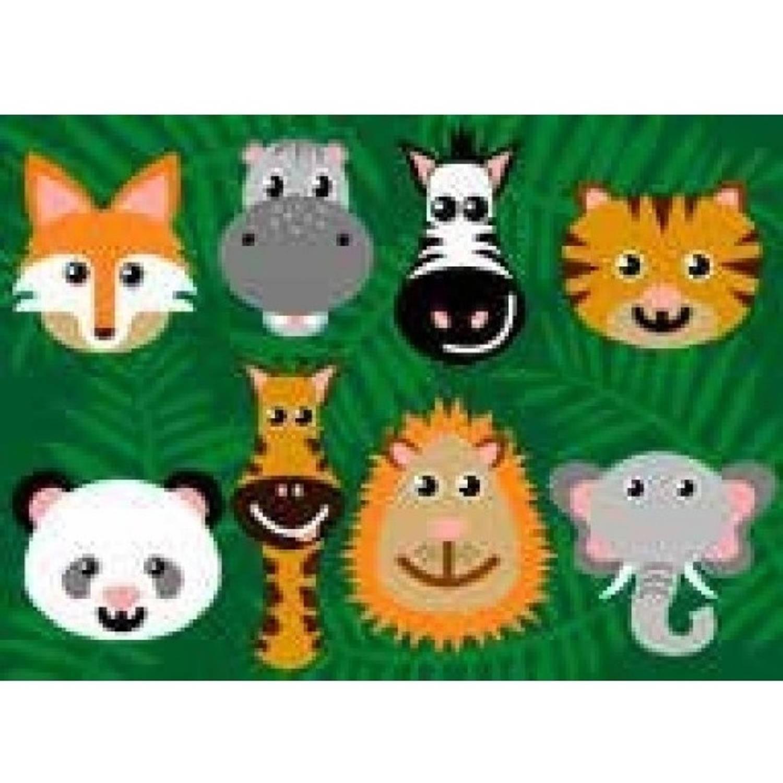 Afbeelding van AW vloerkleed educatief dieren 133 x 95 cm
