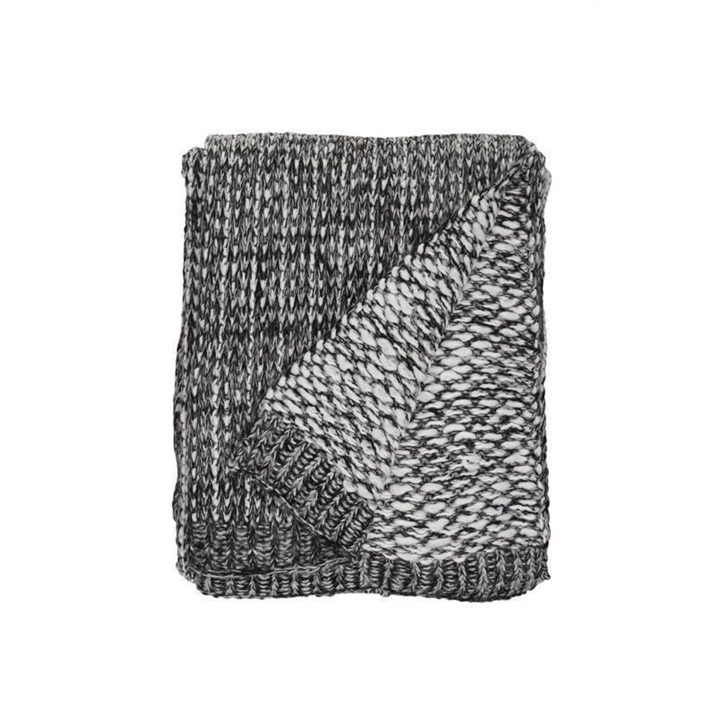 Unique Living Luc plaid - 100% polyester - 130x160 cm - Grijs