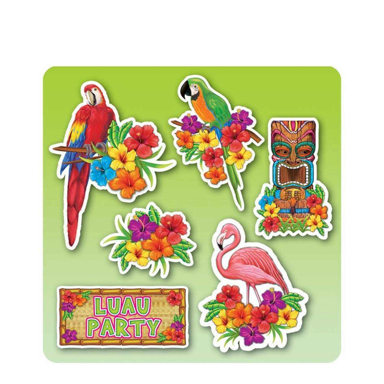 Hawaii Decoratie Set Lua Party 40cm 6 Stuks Blokker