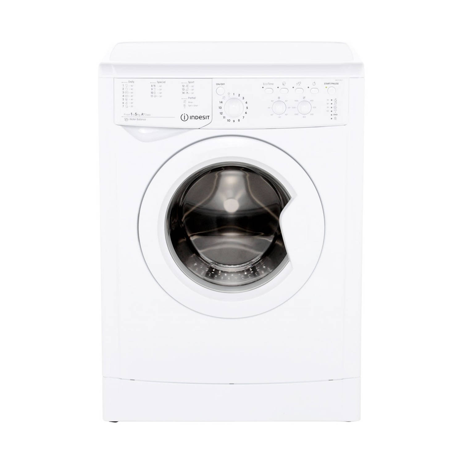 Indesit IWC 51451 EU wasmachines - Wit