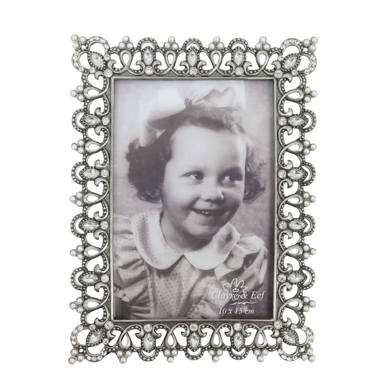 Clayre & eef fotolijst 15x20 cm / 10x15 cm - zilver - metaal