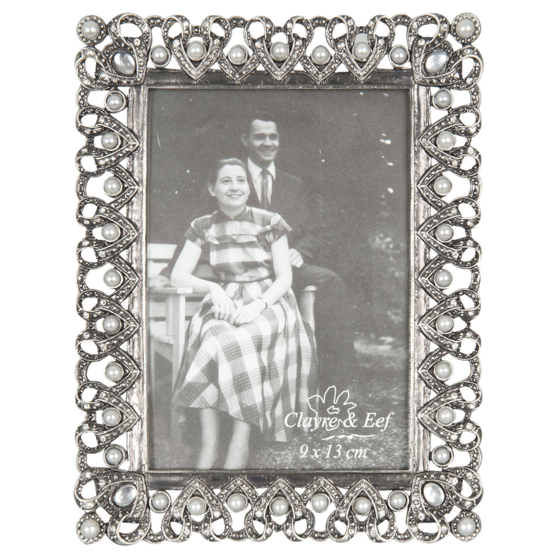 Clayre & eef fotolijst 13x17 cm / 9x13 cm - zilver - metaal, ijzer