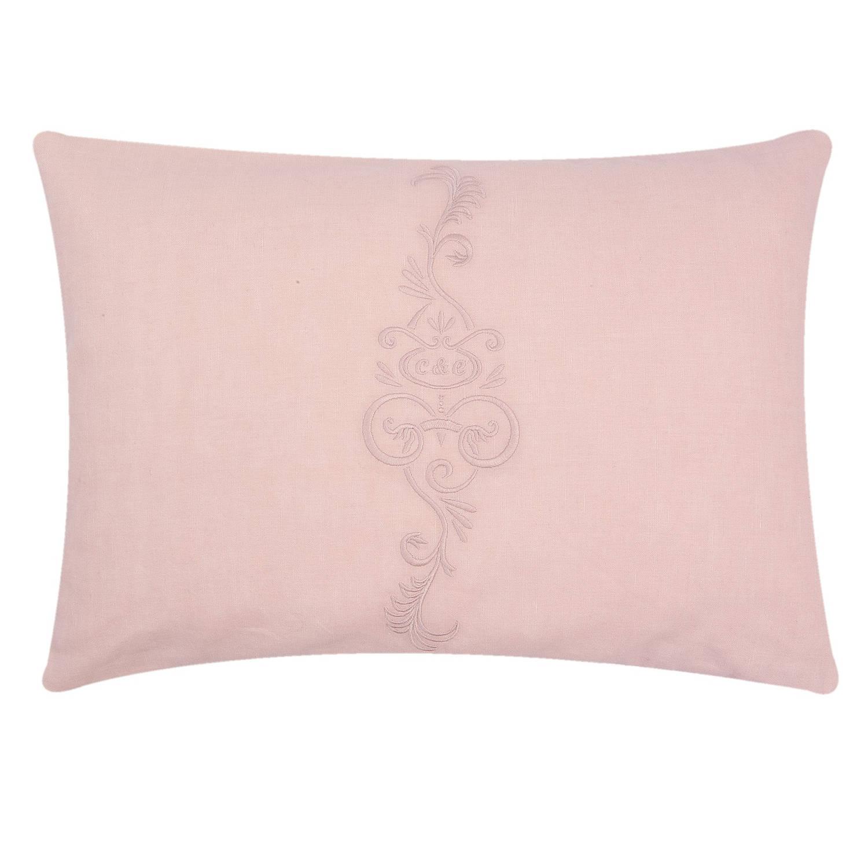 Clayre & eef kussen incl. Vulling 35x50 cm - roze - katoen, 100% katoen