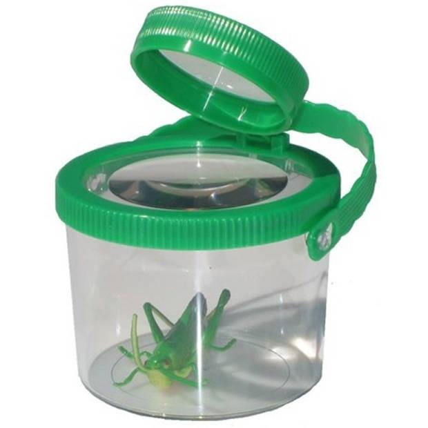 Mamamemo insectenvergrootglas kunststof 8 cm groen