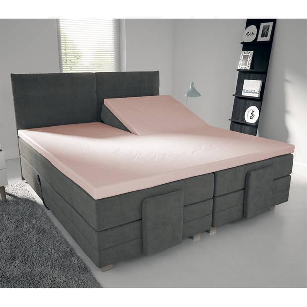 Nightlife Jersey Splittopper Hoeslaken Roze-160 x 220 cm