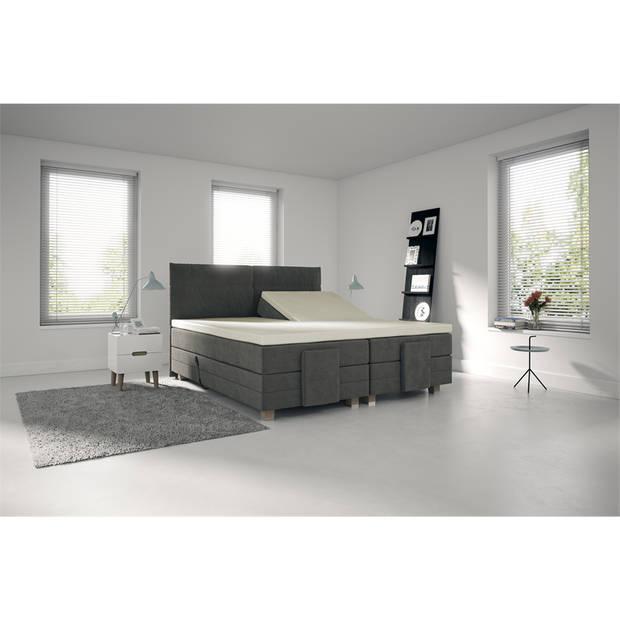 Nightlife Jersey Splittopper Hoeslaken Off-White-160 x 220 cm