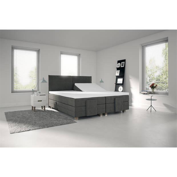 Nightlife Jersey Splittopper Hoeslaken Wit-160 x 220 cm